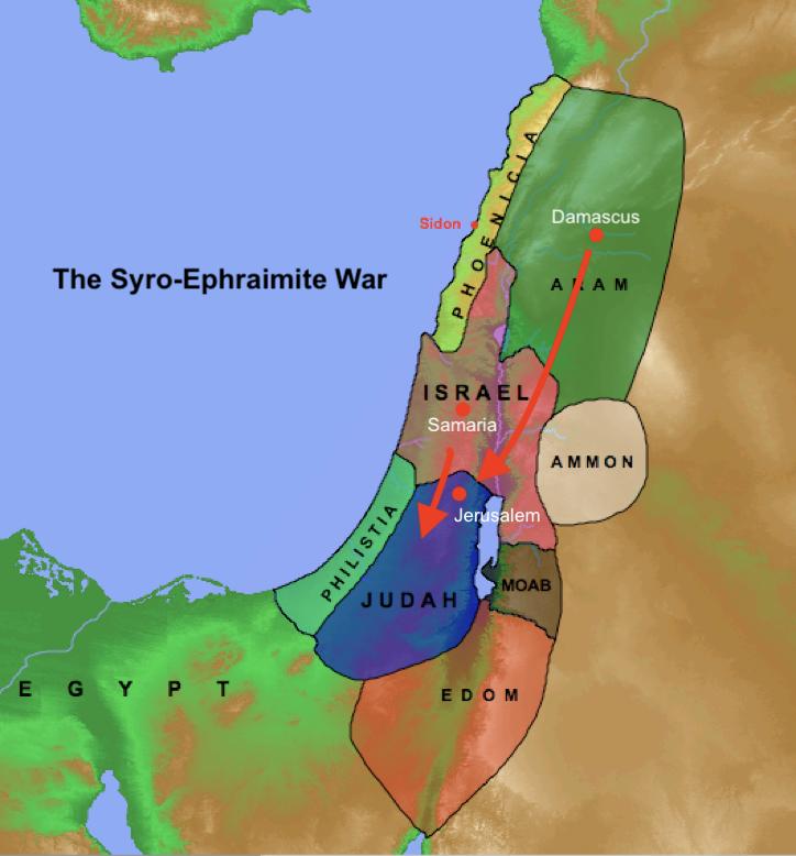 Map: the Syro-Ephraimite War